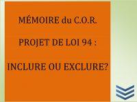 Mémoire projet de Loi 94