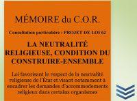 Mémoire projet de Loi 62